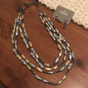 Never worn Chico's necklace set